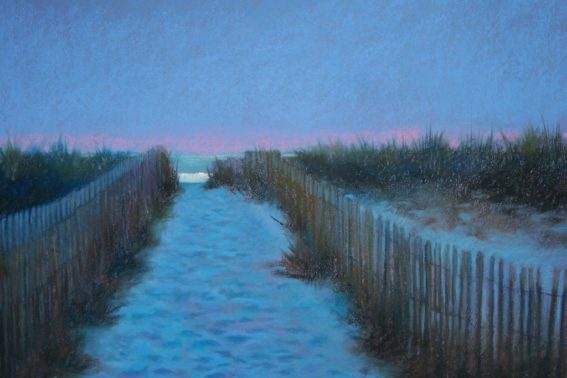 A Walk in the Evening, painting by Artist, Nick Serratore