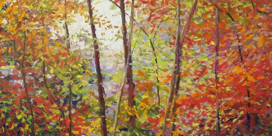 Autumn Woods, painting by Artist, Nick Serratore