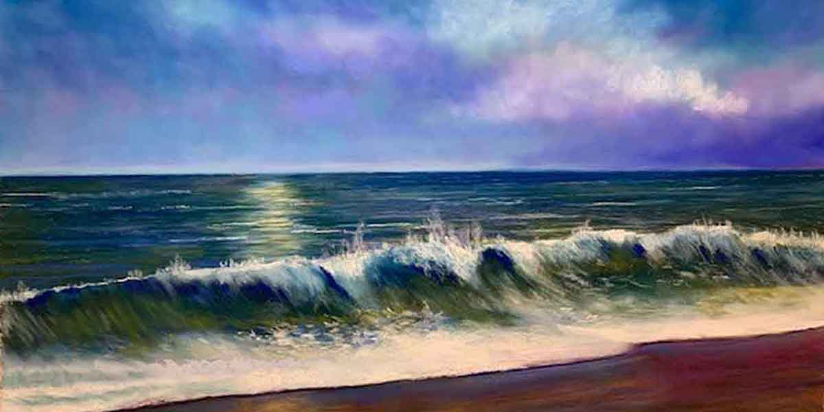 Break in the Waves, painting by Artist, Nick Serratore