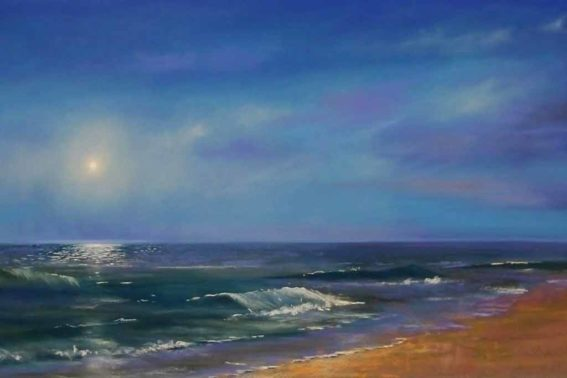 Cape Henlopen Night, painting by Artist, Nick Serratore