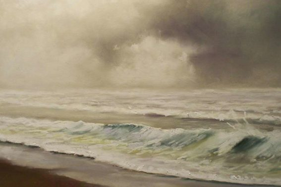 Cape Henlopen Storm, painting by Artist, Nick Serratore