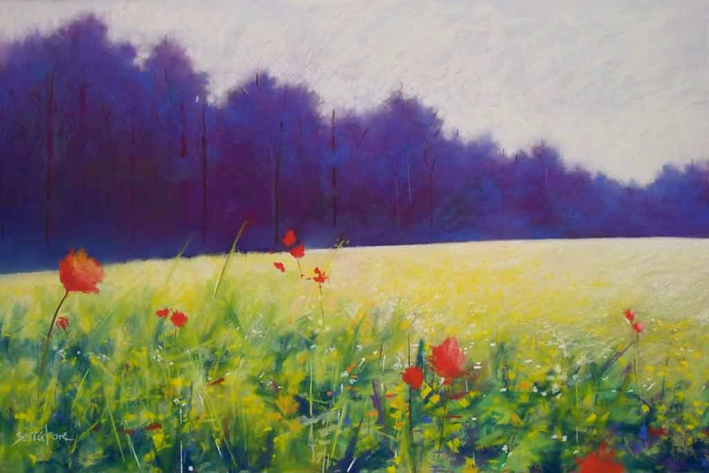 Mist and Wildflowers, painting by Artist, Nick Serratore