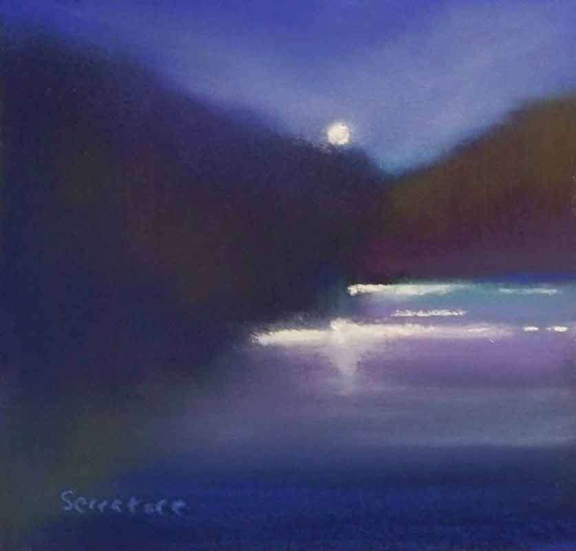 Nocturne, painting by Artist, Nick Serratore