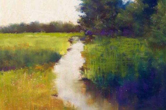 Pastoral, painting by Artist, Nick Serratore