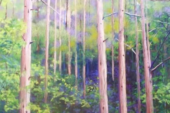 Pine Forest, painting by Artist, Nick Serratore