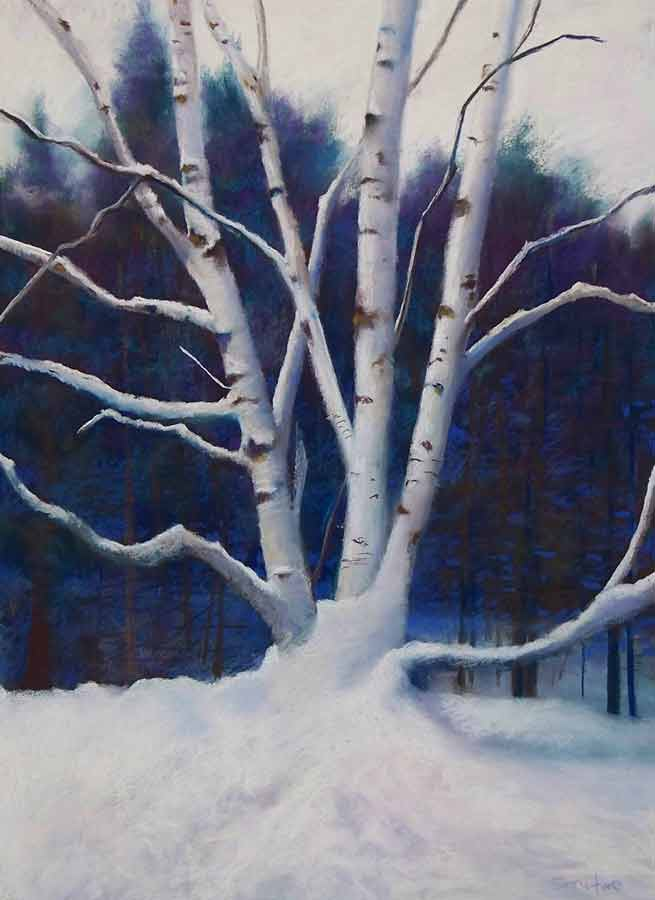 Snow Drift, painting by Artist, Nick Serratore
