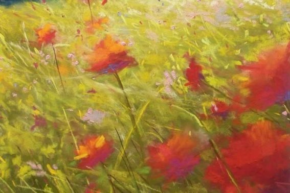 Wild Poppies, painting by Artist, Nick Serratore