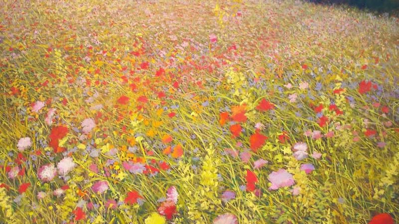 Wildflower Series V, painting by Artist, Nick Serratore