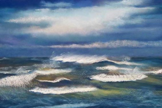 Restless Sea, painting by Artist, Nick Serratore