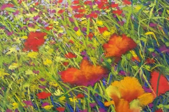 Poppies, painting by Artist, Nick Serratore
