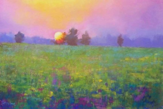 August Evening, painting by Artist, Nick Serratore