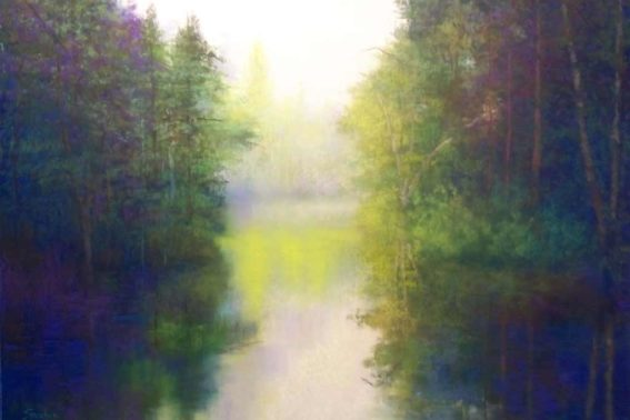 Broadkill River III, painting by Artist, Nick Serratore