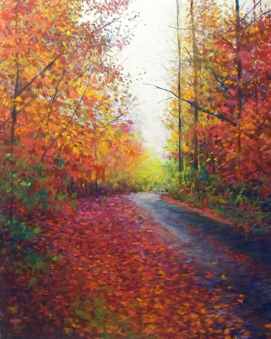 Crimson Path II, painting by Artist, Nick Serratore