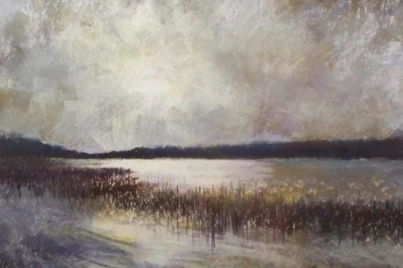 Lakeside Storm, painting by Artist, Nick Serratore