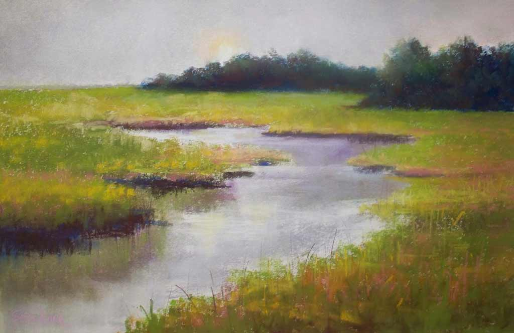 Old Mill Creek, painting by Artist, Nick Serratore