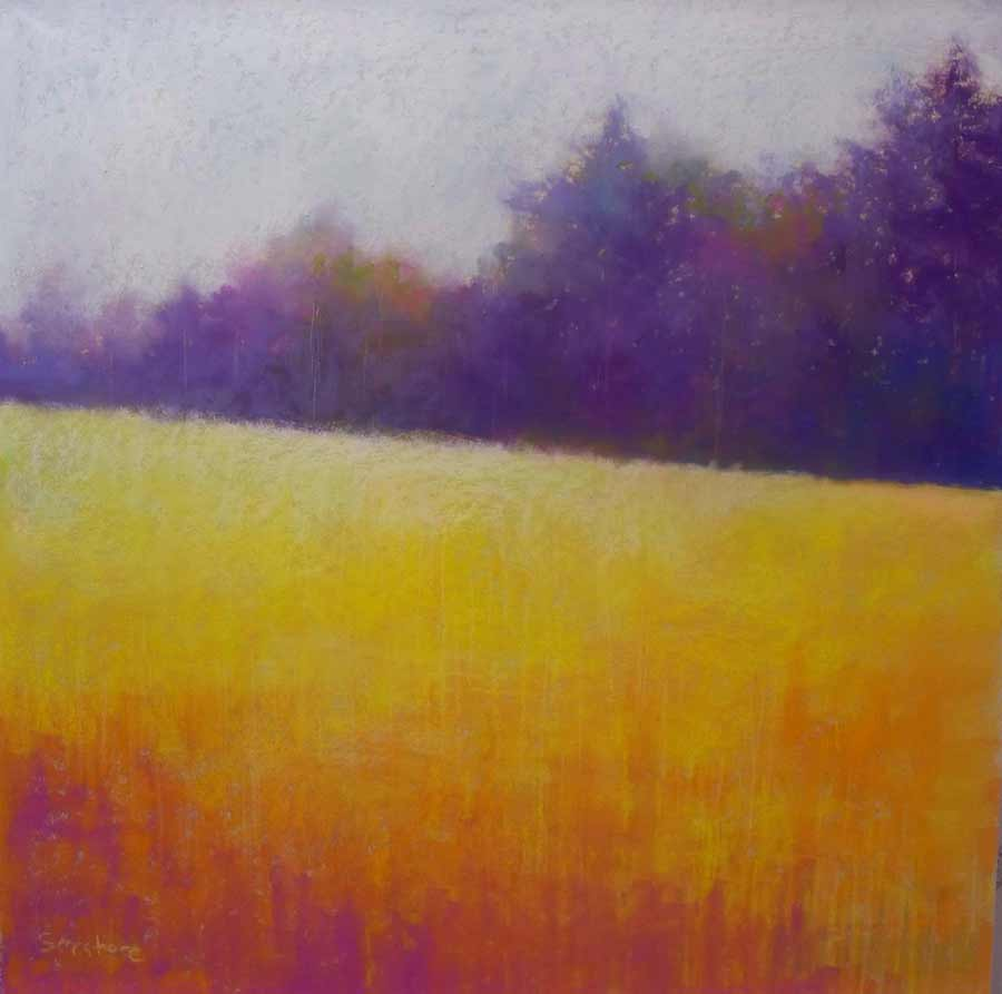Sun Drenched Field, painting by Artist, Nick Serratore