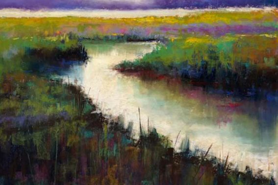 Wetlands II, painting by Artist, Nick Serratore