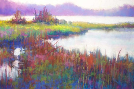 Wolfe Neck Glade, painting by Artist, Nick Serratore