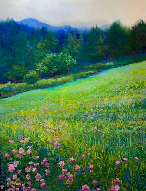 Hillside Valley, Spring by artist Nick Serratore